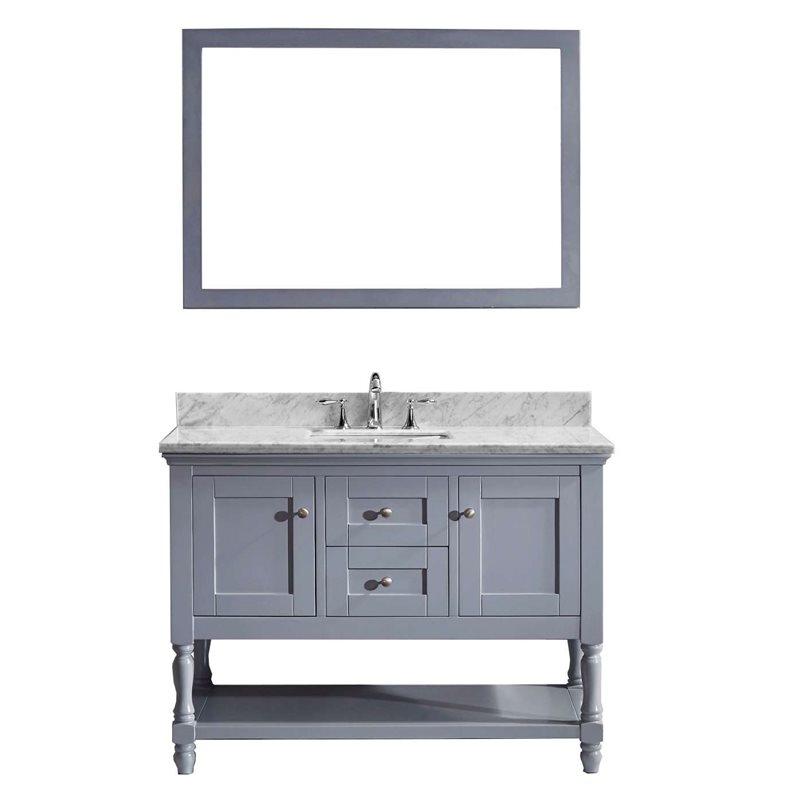 Julianna 48 Single Bathroom Vanity Cabinet Set In Grey