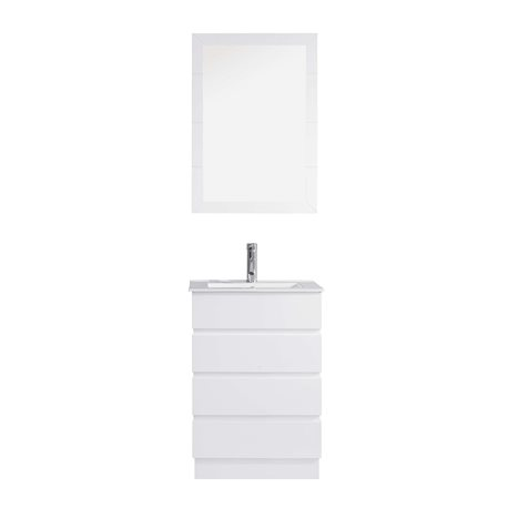 Bruno 24 Single Bathroom Vanity Cabinet Set In White