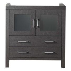 "Virtu USA Dior 32"" Bathroom Vanity Cabinet in Grey Oak"