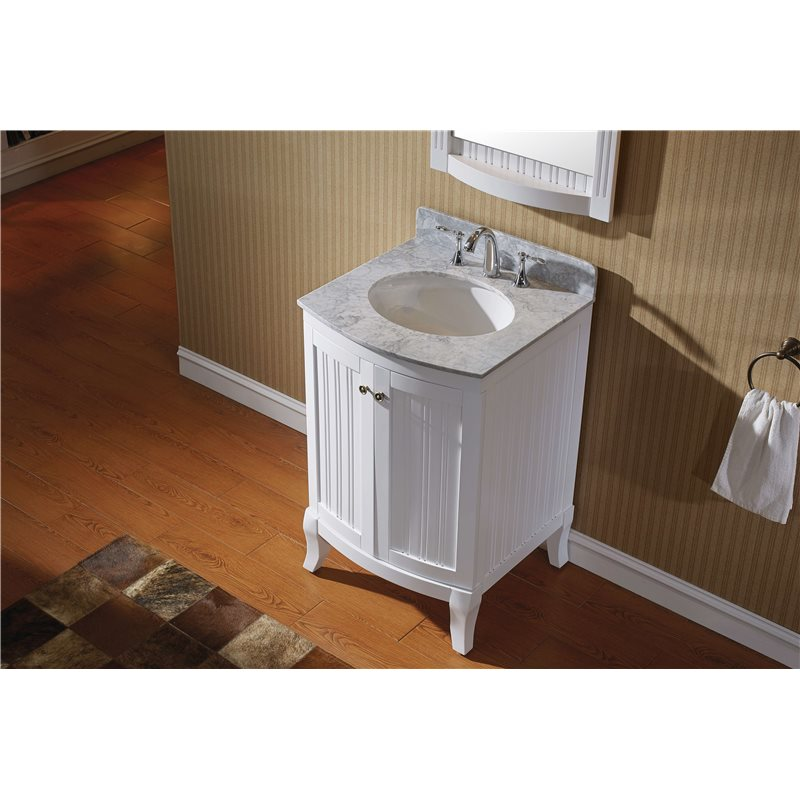 Khaleesi 24 Single Bathroom Vanity Cabinet Set In White