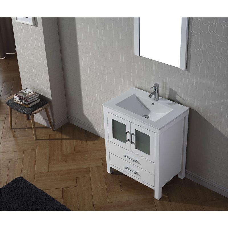 Dior 28 Single Bathroom Vanity Cabinet Set In White