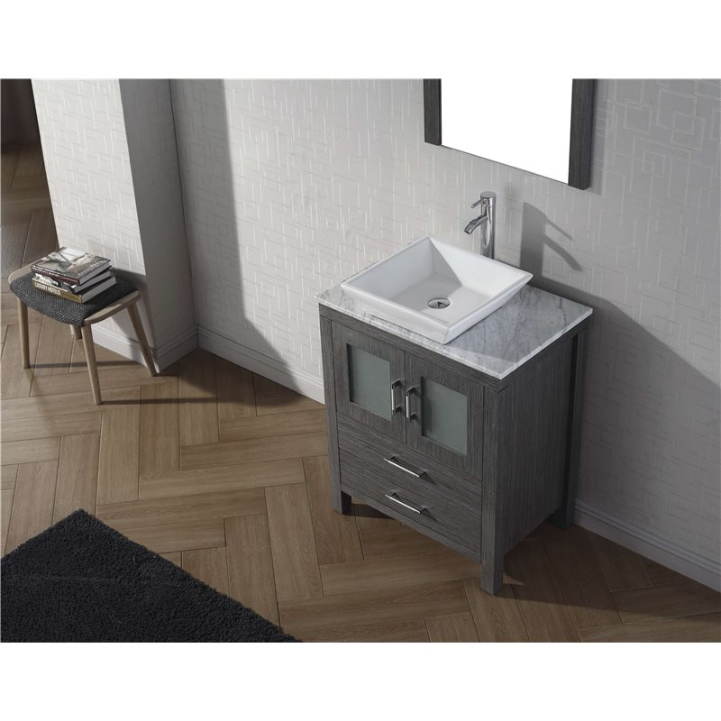 Dior 28 Single Bathroom Vanity Cabinet Set In Zebra Grey