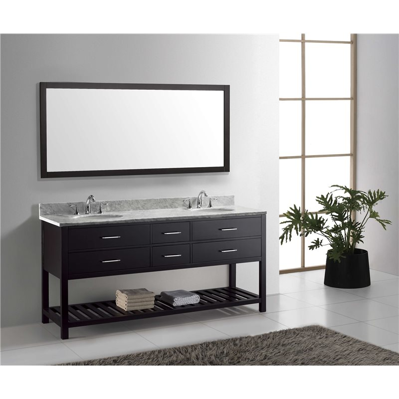 Caroline Estate 72 Double Bathroom Vanity Cabinet Set In