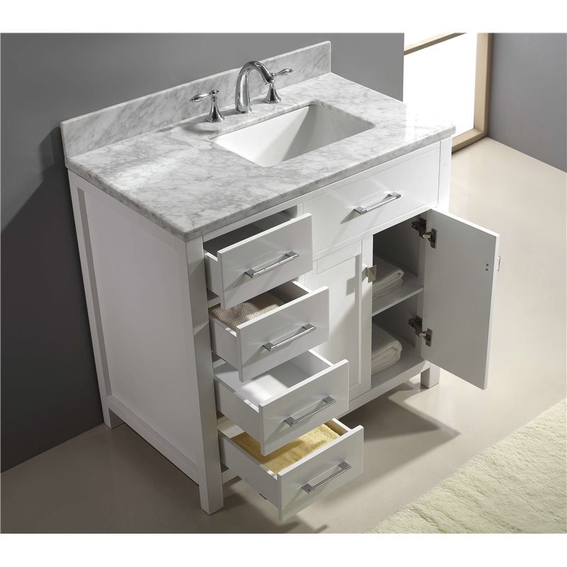 Caroline Parkway 36 Single Bathroom Vanity Cabinet Set In