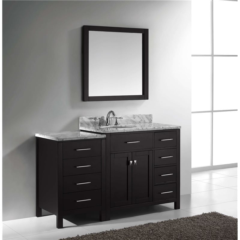 Caroline parkway 57 single bathroom vanity cabinet set in for Bathroom vanity display for sale