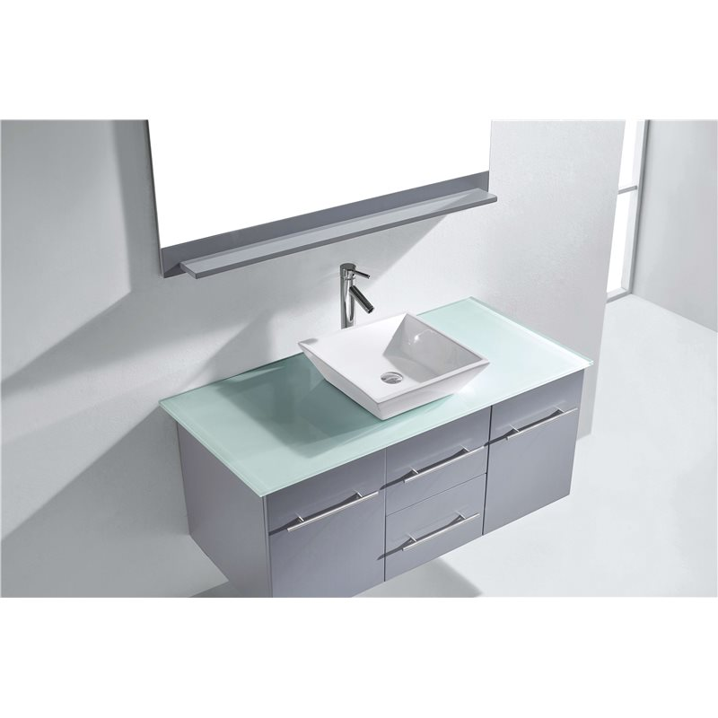 Marsala 48 Single Bathroom Vanity Cabinet Set In Grey