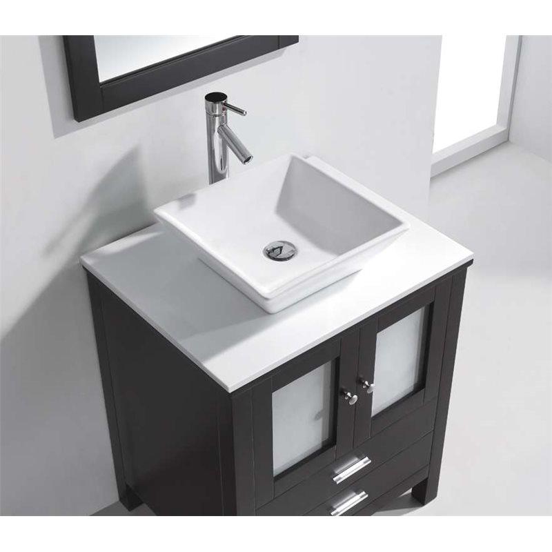 Brentford 28 single bathroom vanity cabinet set in espresso for Bathroom vanity and cabinet sets