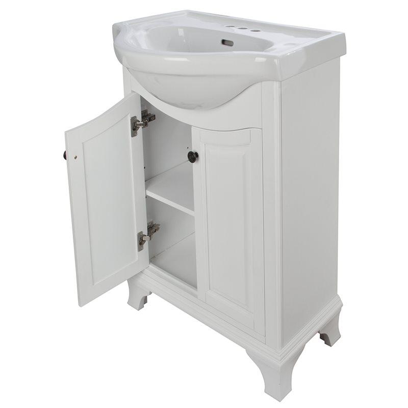 Corsicana 26 euro vanity combo white finish - Euro bathroom vanity combo set ...