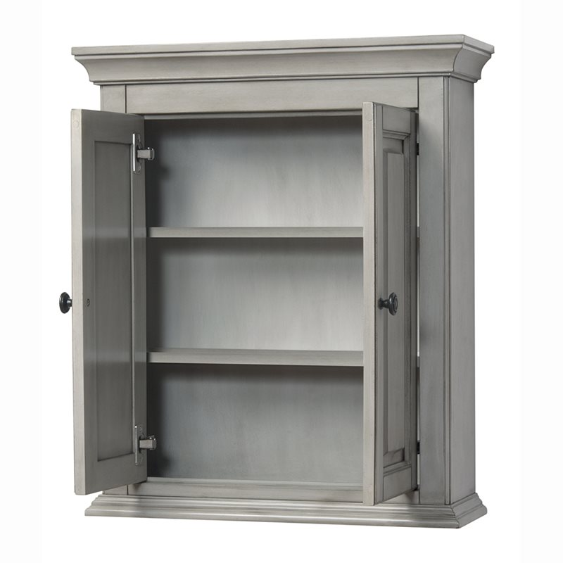 Corsicana 24 x 28 wall cabinet antique grey - Antique bathroom wall cabinets ...