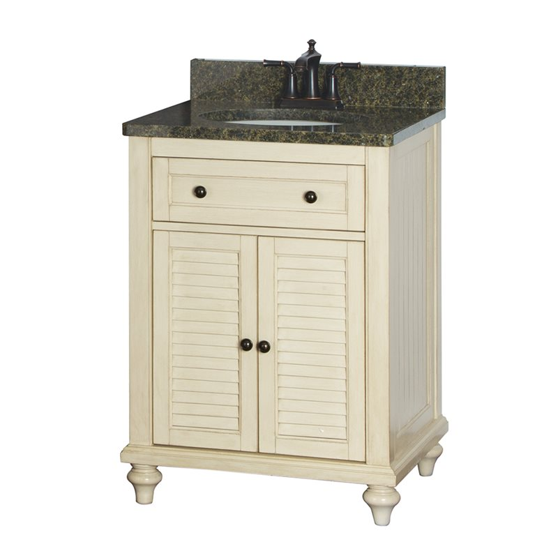 Fair child 24 inch bathroom vanity in antique white for Bathroom 24 inch vanity