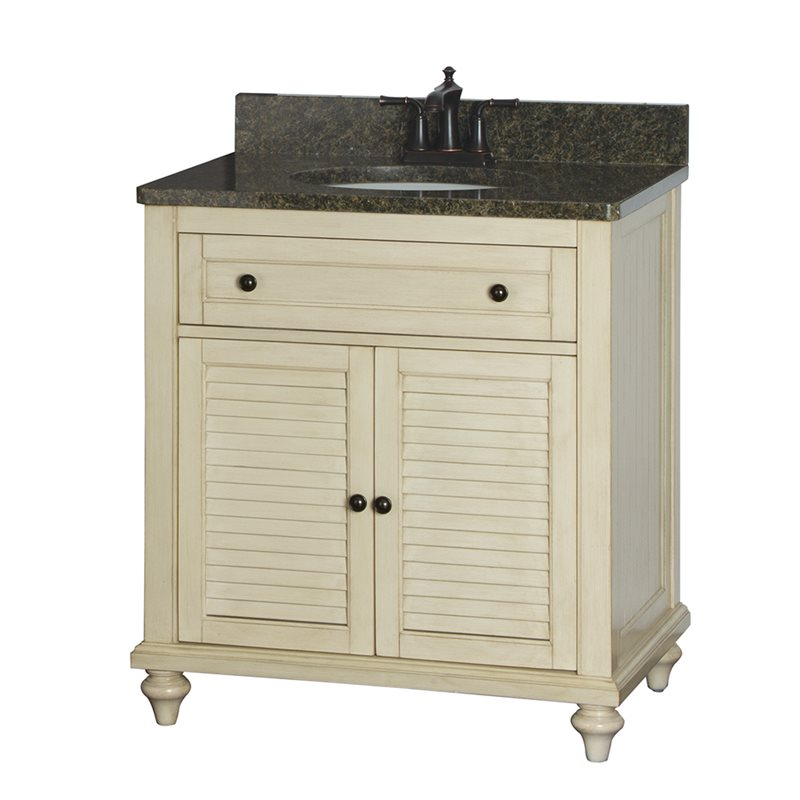fair child 30 inch bathroom vanity in antique white