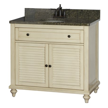Fair child 36 inch bathroom vanity in antique white for Bathroom vanity display for sale