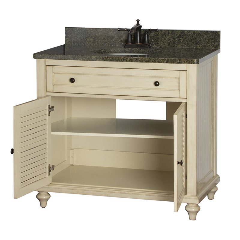 Fair child 36 inch bathroom vanity in antique white for Bathroom 36 vanities