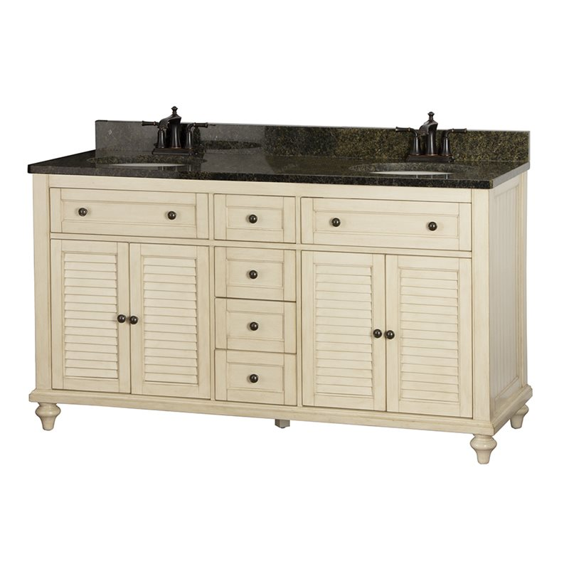 Creative Collection Andover White 60 Traditional Single Sink Bathroom Vanity