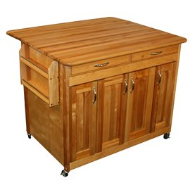 butcher block work Center PLUS with drop leaf