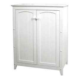 White Double Door Cabinet