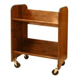 BookMaster Walnut Stain Birch - Tilted Shelves