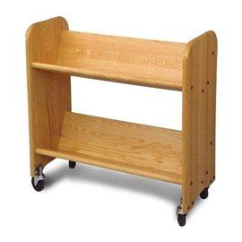 BookMaster Natural Oak Grain - Tilted Shelves