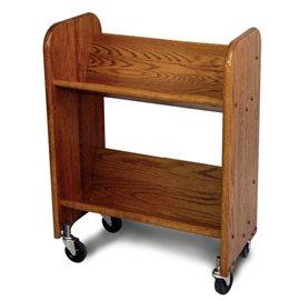 BookMaster Walnut Stain Oak Grain - Tilted Shelves
