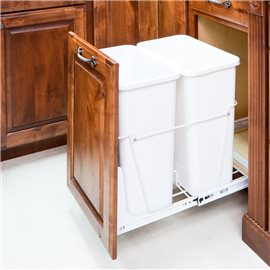 35-Quart Double Pullout Waste Container System