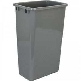 """50-Quart Plastic Waste Container Gray. 10-1/4"""" x 14-7/8"""" x"""