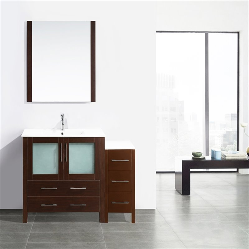 Cool Artemis WP750R 750mm Polyurethane Bathroom Vanity Unit With Ceramic