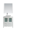 "Sydney 30"" Vanity Set with 16"" x 16"" Vessel Sink - White"