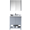 "Monaco 30"" Vanity Set - Metal Grey with Medicine Cabinet"