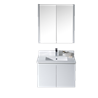 "Monaco 30"" Wall Hung Vanity Set - Matte White with Medicine Cabinet"
