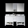 "Monaco 72"" Double Sink Vanity Set - Matte White with Mirror"