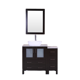 """42"""" Bosconi AB130BWLCM1S Single Vanity"""