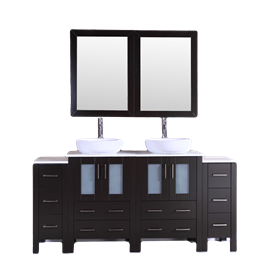 """72"""" Bosconi AB224BWLPS2S Double Vanity"""