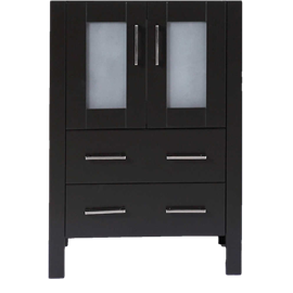 """24"""" A-B-24MC Black Single Vanity Cabinet """