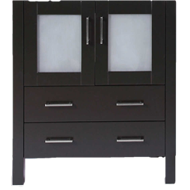 """30"""" A-B-30MC Black Single Vanity Cabinet """