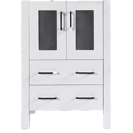 """24"""" A-WH-24MC White Single Vanity Cabinet """