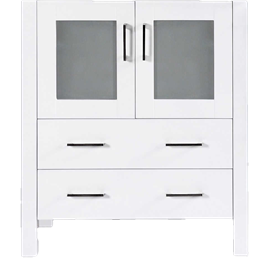 """30"""" A-WH-30MC White Single Vanity Cabinet """