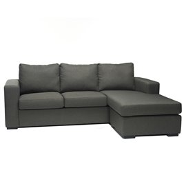 Colton Linen 2-Pieces Sectional Sofa in Grey