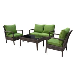 Baymont 4-Piece All Weather Wicker Conversation Set
