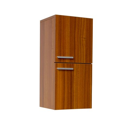 Fresca Teak Bathroom Linen Side Cabinet w/ 2 Storage Areas
