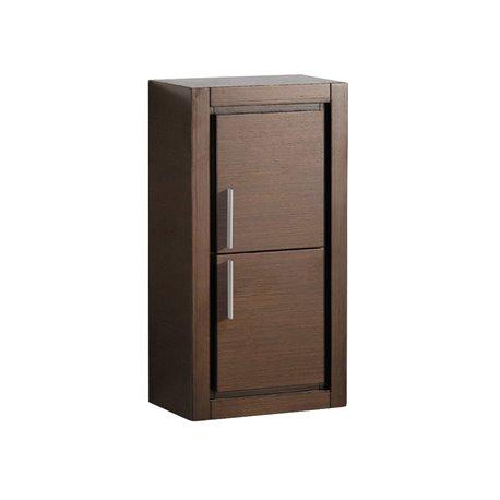 Fresca Wenge Brown Bathroom Linen Side Cabinet w/ 2 Doors