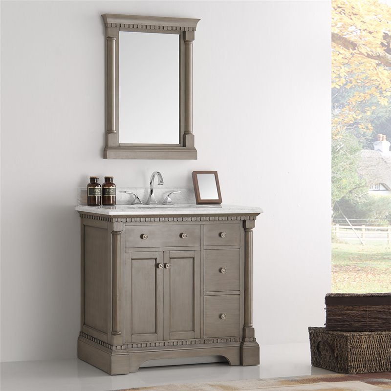 Fresca Kingston 36 Antique Silver Traditional Bathroom