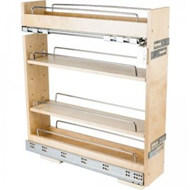 "5"" Base cabinet pullout with premium soft-close undermount s"
