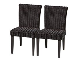 2 Venice Armless Dining Chairs