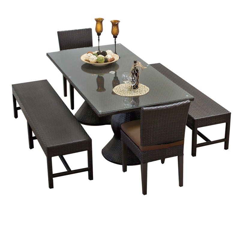 sets and tables napa rectangular outdoor patio dining table with 2
