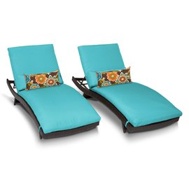 Bali Chaise Set of 2 Outdoor Wicker Patio Furniture