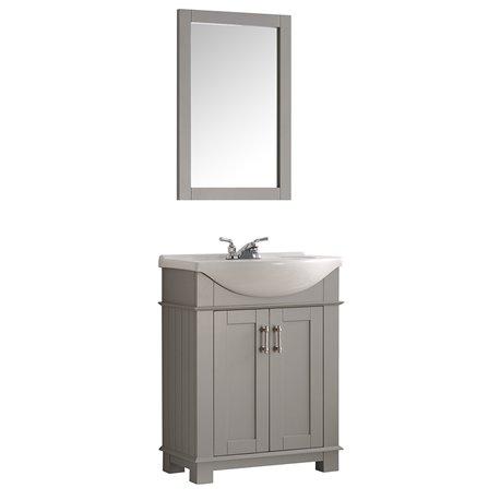 """Fresca Hartford 30"""" Gray Traditional Bathroom Vanity"""