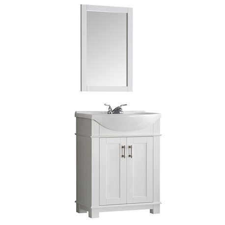 "Fresca Hartford 30"" White Traditional Bathroom Vanity"