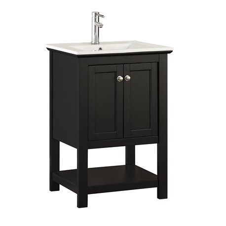 "Fresca Manchester 24"" Black Traditional Bathroom Vanity"