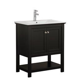"Fresca Manchester 30"" Black Traditional Bathroom Vanity"