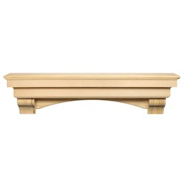 """48"""" Auburn Unfinished Wood Shelf."""